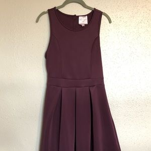 Plum Romeo & Juliet Dress